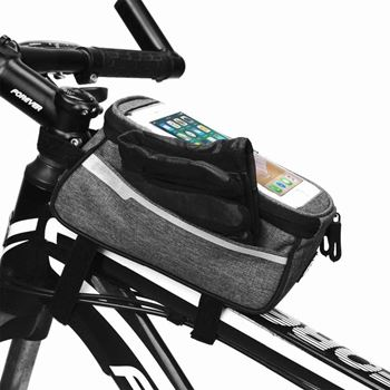 Obrázek Brašna na kolo pro Smartphone - šedá