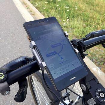 Obrázek z Otočný držák mobilu na kolo