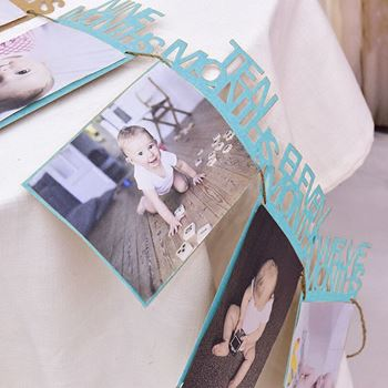 Obrázek z Fotorámečky - První rok dítěte - modré