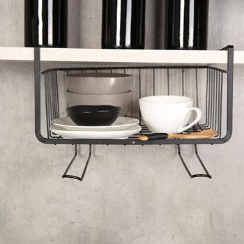 Obrázek Závěsný kovový košík - černý