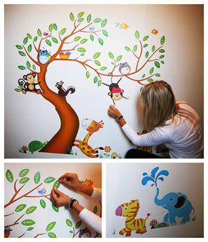 Obrázek z Samolepky na zeď - Zvířátka