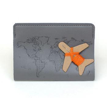 Obrázek Vzpomínkové pouzdro na cestovní pas - šedé