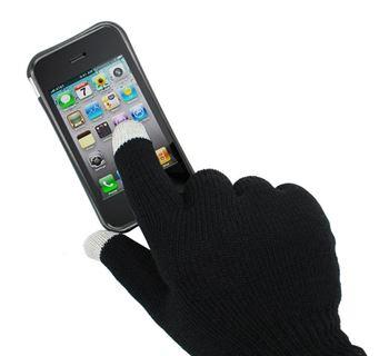 Obrázek Rukavice pro smartphony - černé