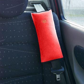 Obrázek Cestovní polštář do auta na pás - červený