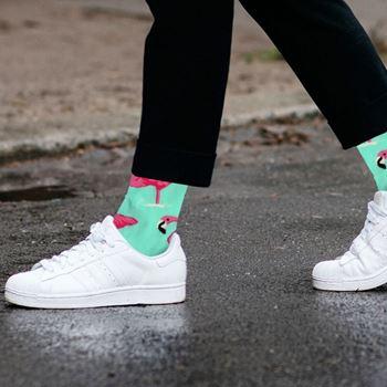 Obrázek z Veselé ponožky - plameňáci