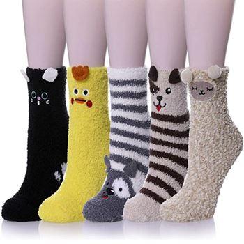 Obrázek Teplé ponožky - zajíček