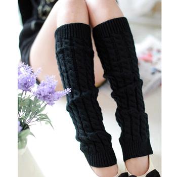 Obrázek Hřejivé návleky na nohy - černé