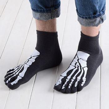 Obrázek Prstové ponožky - kostlivec