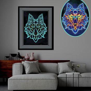 Obrázek z Diamantové malování svítící ve tmě - vlk