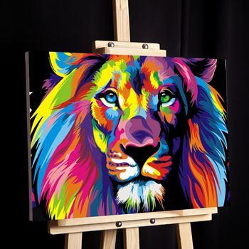 Obrázek Malování podle čísel - lev