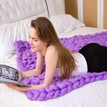 Obrázek Příze pro ruční pletení - fialová