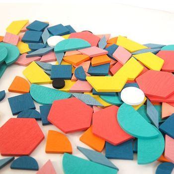 Obrázek z Dřevěná skládačka - geometrické tvary