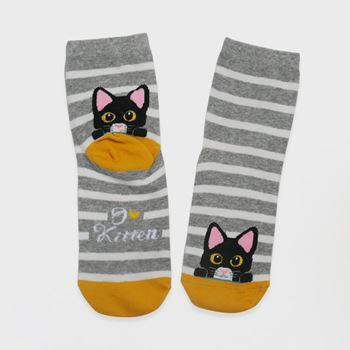 Obrázek Veselé kočičí ponožky - šedé
