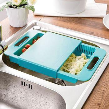 Obrázek Kuchyňské prkénko s odkapávačem i boxem