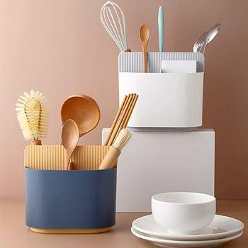 Obrázek z Pořadač do kuchyně/koupelny - modrožlutý