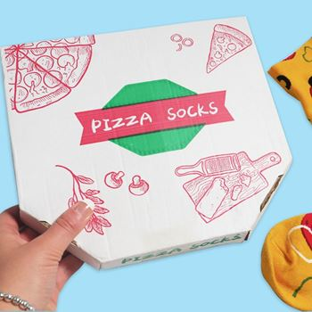 Obrázek z Sada 4 párů ponožek - pizza