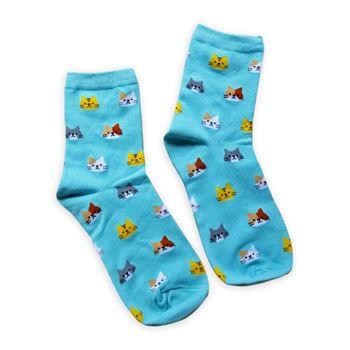 Obrázek Ponožky s kočičkami - modré