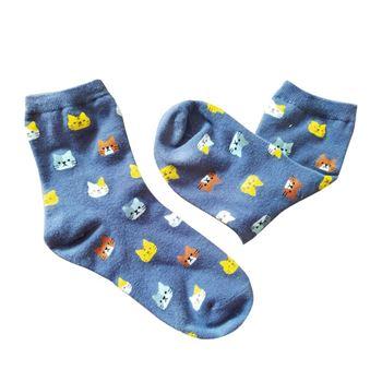 Obrázek Ponožky s kočičkami - šedé