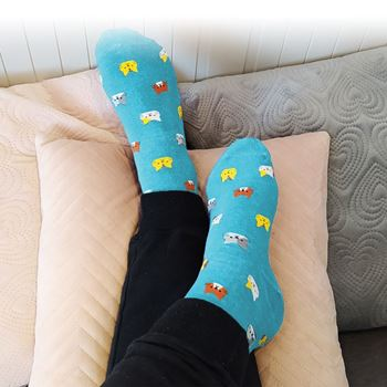 Obrázek z Ponožky s kočičkami - modré