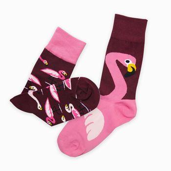 Obrázek z Veselé ponožky s plameňákem