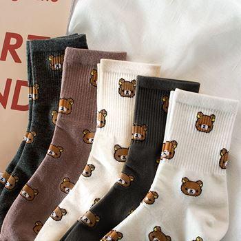 Obrázek z Ponožky s medvídky - bílé