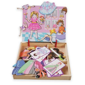 Obrázek Dřevěná magnetická tabulka deluxe - Princezna
