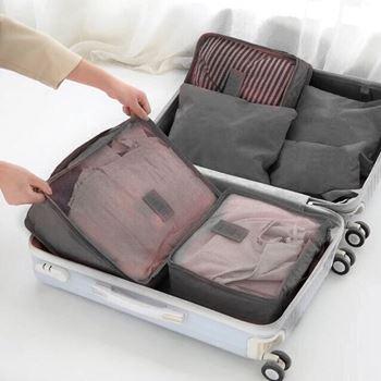 Obrázek Sada cestovních organizérů do kufru - šedivá