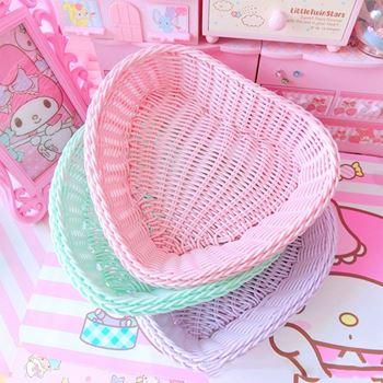 Obrázek z Plastový košík - růžové srdce