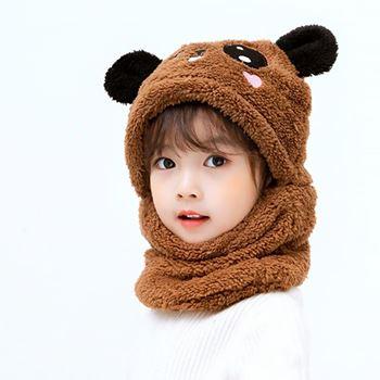 Obrázek Čepice medvídek s ušima - hnědá
