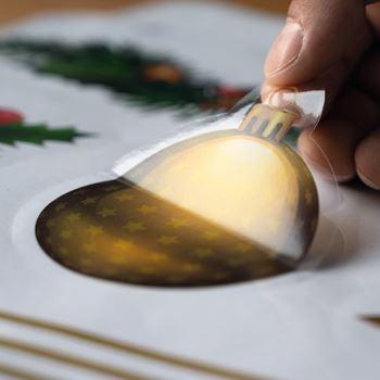 Obrázek z Vánoční nálepky na okno - girlanda